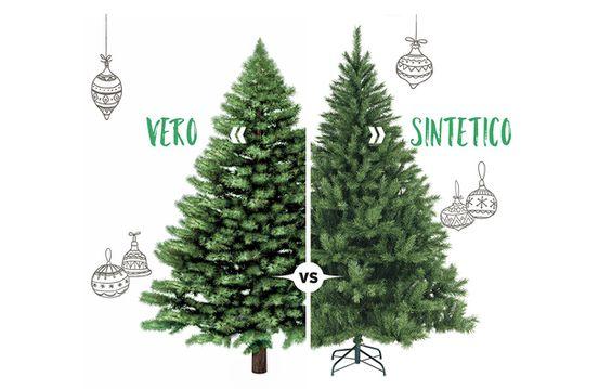 albero vero o artificiale
